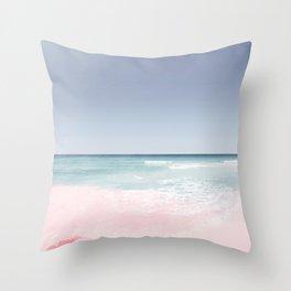 Pastel ocean waves Throw Pillow