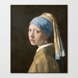 Girl with a Pearl Earring (1665), Old Masters Collection Canvas Print