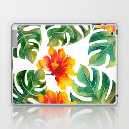 Monstera And Hibiscus Laptop & iPad Skin