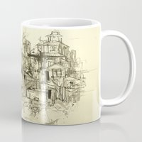 buildings Mugs featuring graphic buildings by Nechifor Ionut