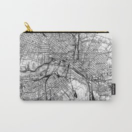 Vintage Map of Richmond Virginia (1934) BW Carry-All Pouch