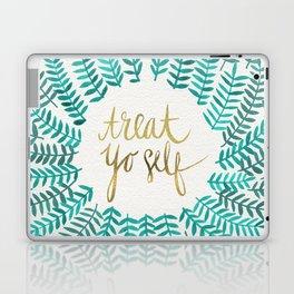Treat Yo Self – Gold & Turquoise Laptop & iPad Skin