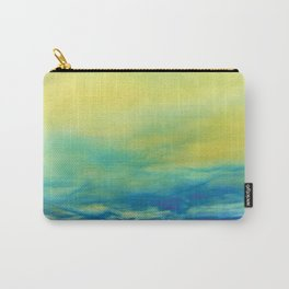 YELLOW & BLUE TOUCHING #1 #abstract #art #society6 Carry-All Pouch