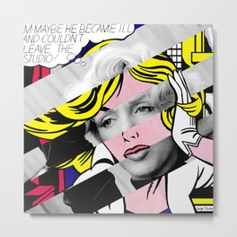 Roy Lichtenstein's Maybe & Marylin Monroe Metal Print