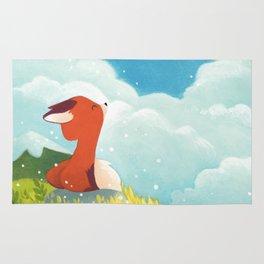 Little fox in the wind Rug