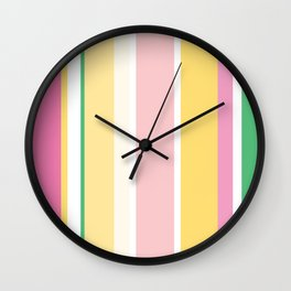 Manly Stripe Wall Clock