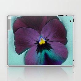 Purple viola tricolor Laptop & iPad Skin