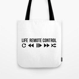 Life Remote Control Tote Bag