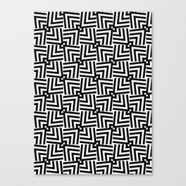 Black And White Op-Art Triangle Pattern Canvas Print