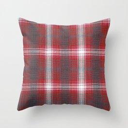 Texture #19 Plaid fabric. Throw Pillow