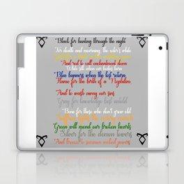 Shadowhunter rhymes Laptop & iPad Skin