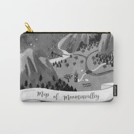 Moominvalley Map interpretation (Black & White) Carry-All Pouch