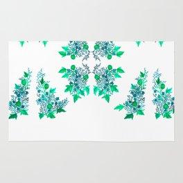 Blue Coralline Flowers Rug