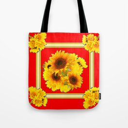 RED YELLOW SUNFLOWER BOUQUETS ART Tote Bag