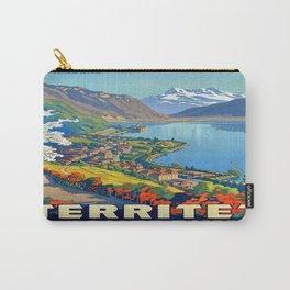 Vintage poster - Territet Montreaux Carry-All Pouch