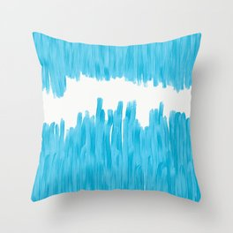 Sea of Blue Painted Throw Pillow