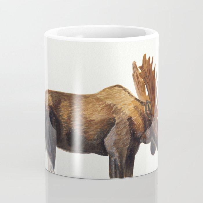 Watercolour Moose Drawing Coffee Mug