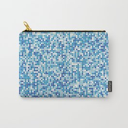 Blue tiles background Carry-All Pouch