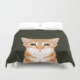 Chase - Cute Cat gifts for pet lovers cat lady gifts and perfect gifts for cat person and cute tabby Duvet Cover