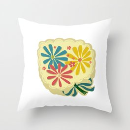 Lucy Floral Throw Pillow