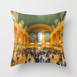 Grand Central Station New York Throw Pillow