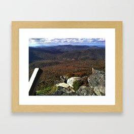 Ladder to the Peak Framed Art Print