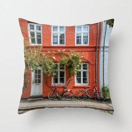 Colors of Copenhagen Throw Pillow