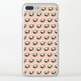 Peyote cactus pattern Clear iPhone Case
