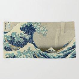 The Great Wave off Kanagawa Beach Towel