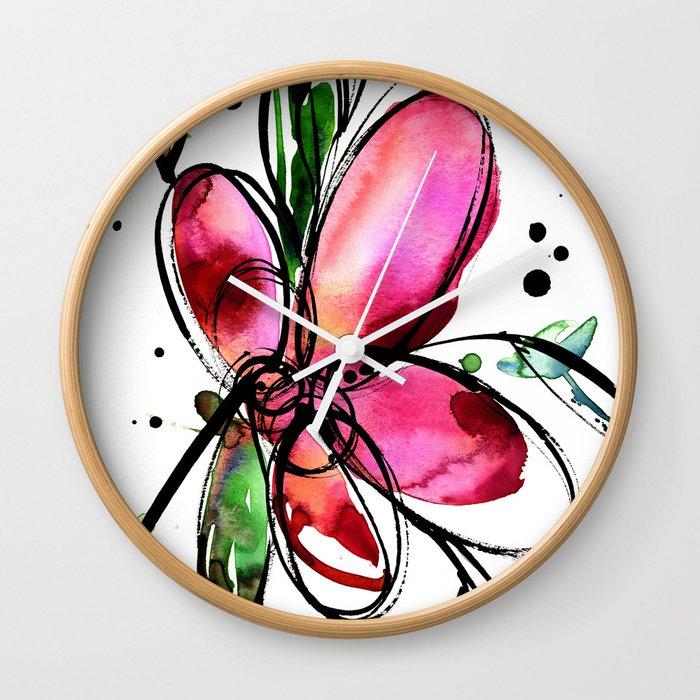 Ecstasy Bloom 9 by Kathy Morton Stanion Wall Clock