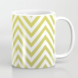 Geometric Lines Pattern Yellow / Golden Coffee Mug
