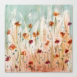 Tiger Lilies, Coneflowers, & Those Blue Things Canvas Print