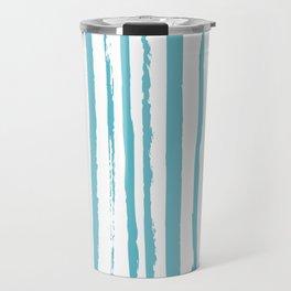 blue streaky pattern Travel Mug