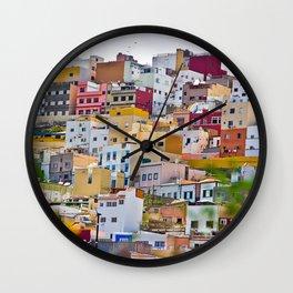 Edificios Colores Las Palmas Wall Clock