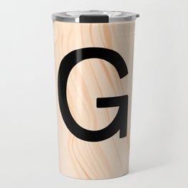 Scrabble Letter G - Scrabble Art and Apparel Travel Mug