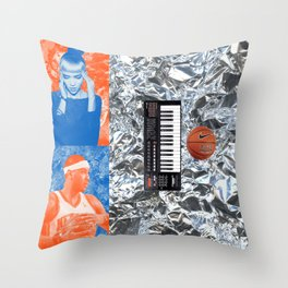 Carmelo Anthony & Grimes Blind Date Rainforest Cafe Leftovers 2014 Throw Pillow