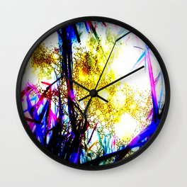 Raindrops in the Grass Wall Clock