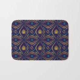 Lotus and OM symbol Luxury Pattern Bath Mat