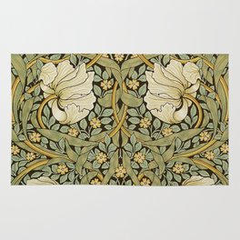 William Morris Pimpernel Art Nouveau Floral Pattern Rug