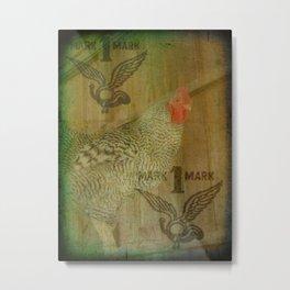 Trademark Barred Rock Rooster Metal Print