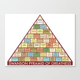 Ron Swanson Pyramid of Greatness Canvas Print