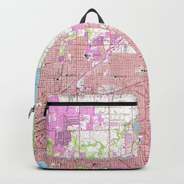 Vintage Map of Tulsa Oklahoma (1954) Backpack