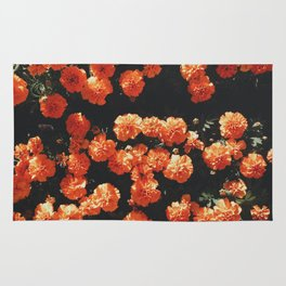Orange flower fleurs Rug