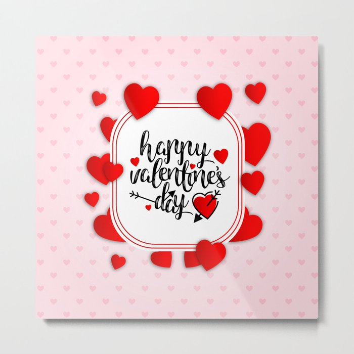 Happy Valentines Day | Valentines Day Special Metal Print