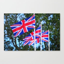 Union Flags of Great Britain Canvas Print