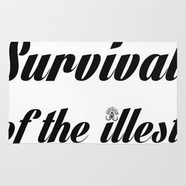 """Barbarica """"Survival of the illest"""" (white) Rug"""