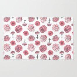 Pink Carnation Pattern Rug