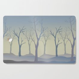 Silhouettes of Trees. Bad Weather Day Cutting Board
