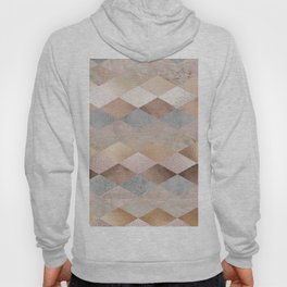 Copper and Blush Rose Gold Marble Argyle Hoody