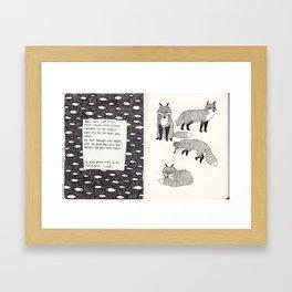 Secret Diary  Framed Art Print